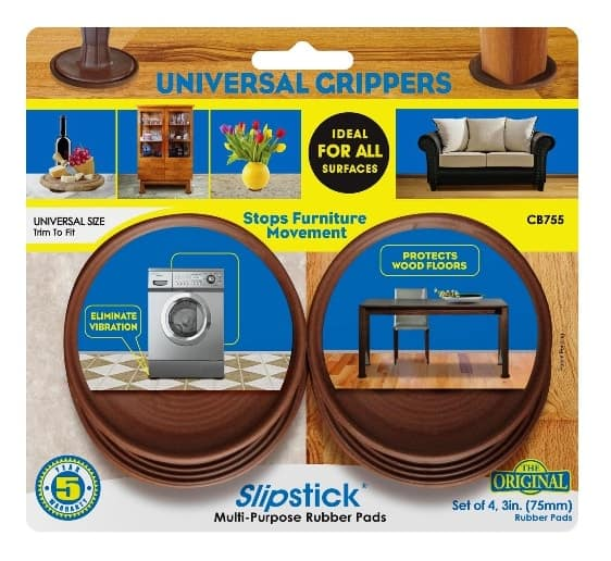 Furniture Feet Coasters: Slipstick Foot 45mm Round Non-Slip Rubber Furniture