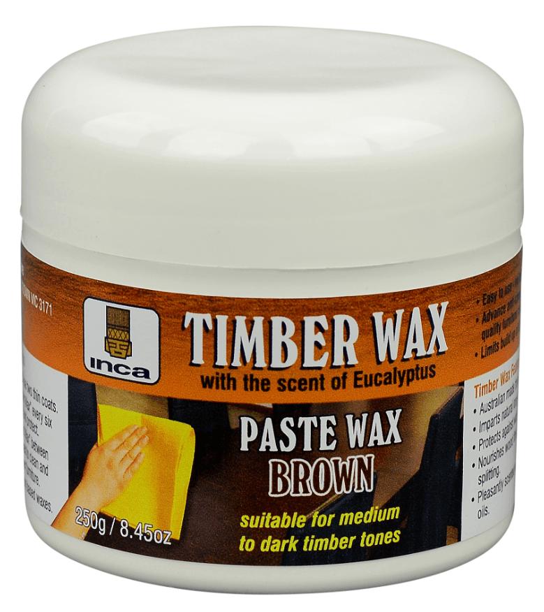 Inca™ TimberWax Paste Wax Furniture Polish Brown 250gr